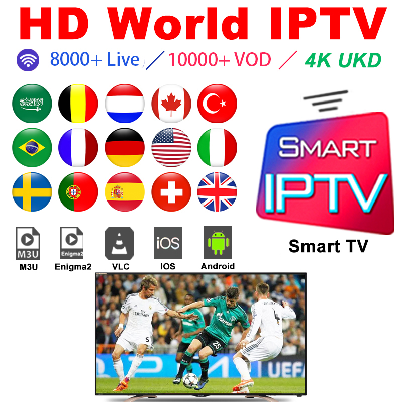 IPTV France Arabic Subscription M3u Abonnement Iptv Portugal Spain Turkey French Germany Italy Android Ip Tv Box M3u Smart TV PC