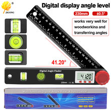 230mm 4in1 digital protractor angle ruler spirit level universal level ruler woodworking angle 360 degree angle protractor
