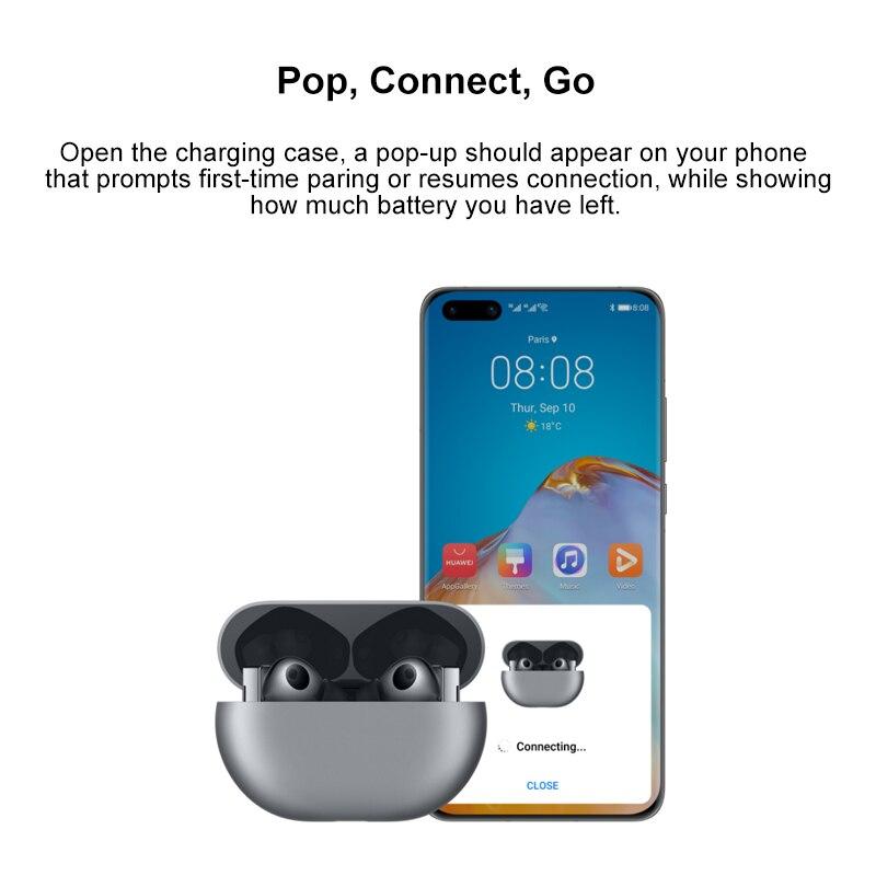 Оригинальная глобальная версия Huawei FreeBuds Pro Наушники-вкладыши TWS с In-ear Беспроводная гарнитура наушники для активного шумоподавления наушники 3