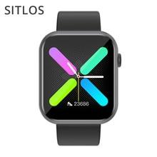 Sitlos r3l 2020 novo relógio inteligente homem tela cheia com jogo embutido ip67 à prova dip67 água monitor de freqüência cardíaca para ios android smartwatch