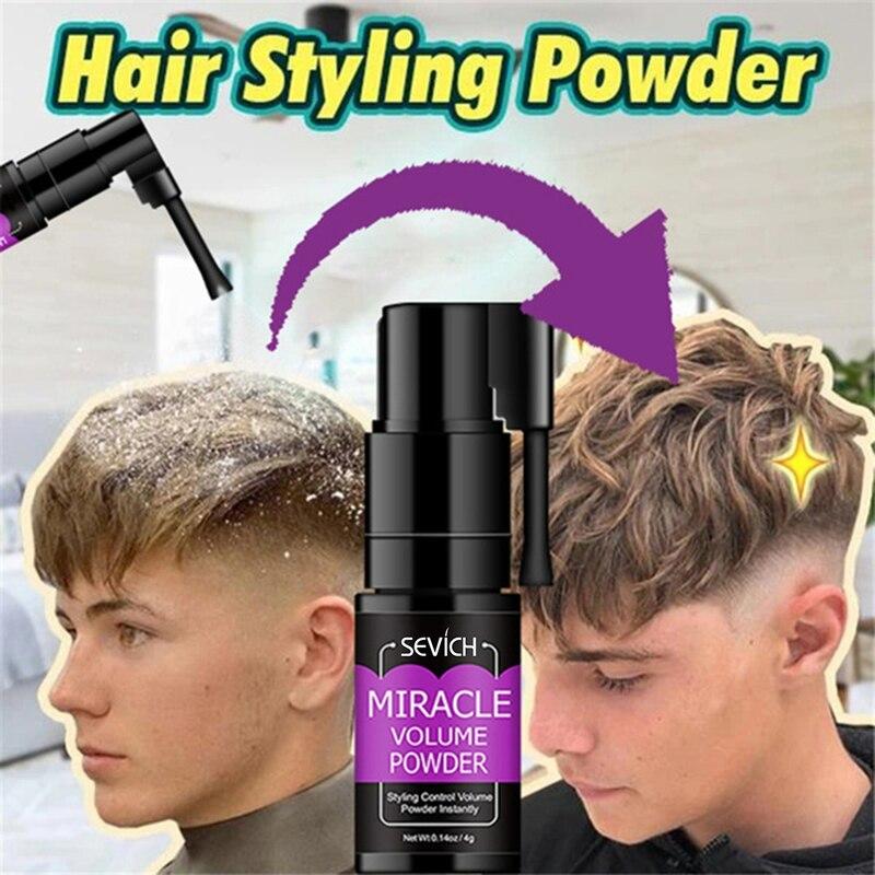 Пушистая пудра для волос для мужчин Wo, пудра для укладки волос с эффектом увеличения объема, вращение на 360 °, освежающий спрей для удаления м...