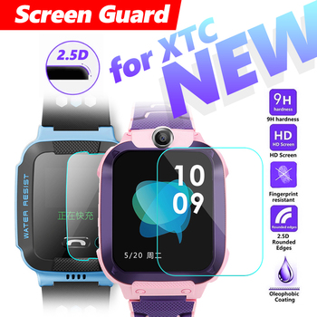 цена Fully fit 2.5D Screen Protector Film for XTC Y03 Phone Watch Tempered 9H Glass Ultra-thin Clear Screen Guard for Y03 Child watch онлайн в 2017 году