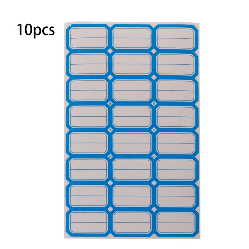 240 Pcs Self Adhesive Sticky Blank Label Paper Label Can Be Classified
