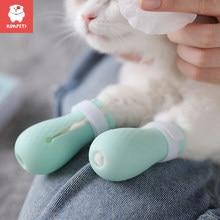 Kimpets gato pés capa para lavar gato anti-risco luvas para gatos e cães pet suprimentos de banho