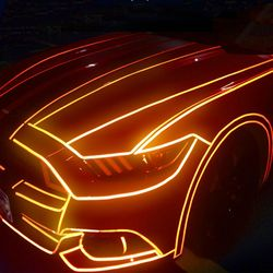 Décoration de la lumière automobile réfléchissant bande vélo électrique étui à vélo autocollant décoratif
