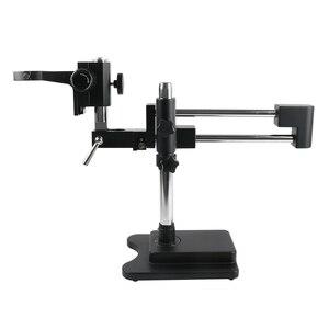 Image 5 - 3.5X 90X podwójne ramię wysięgnik Trinocular Stereo mikroskop zoomowy do telefonu komórkowego Chip CPU do naprawy zegarków biżuteria identyfikacja