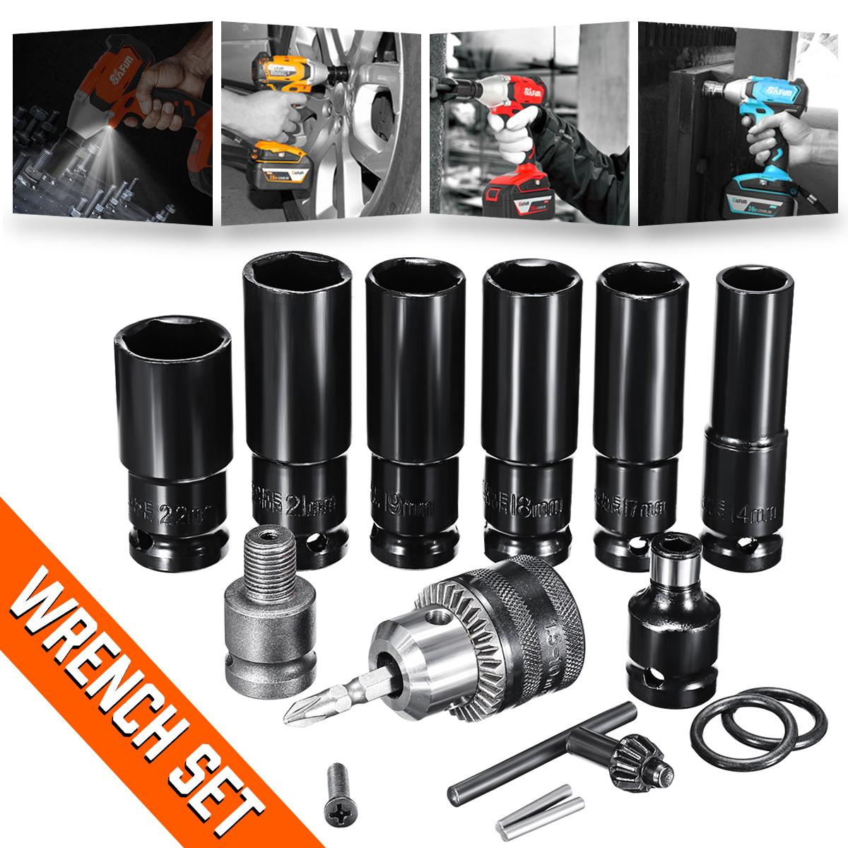 Impact Socket Set Universal Accessories For Electric Impact Wrench Sleeves Batch Head Drill Chuck For Wrench Adapter Hand Tool