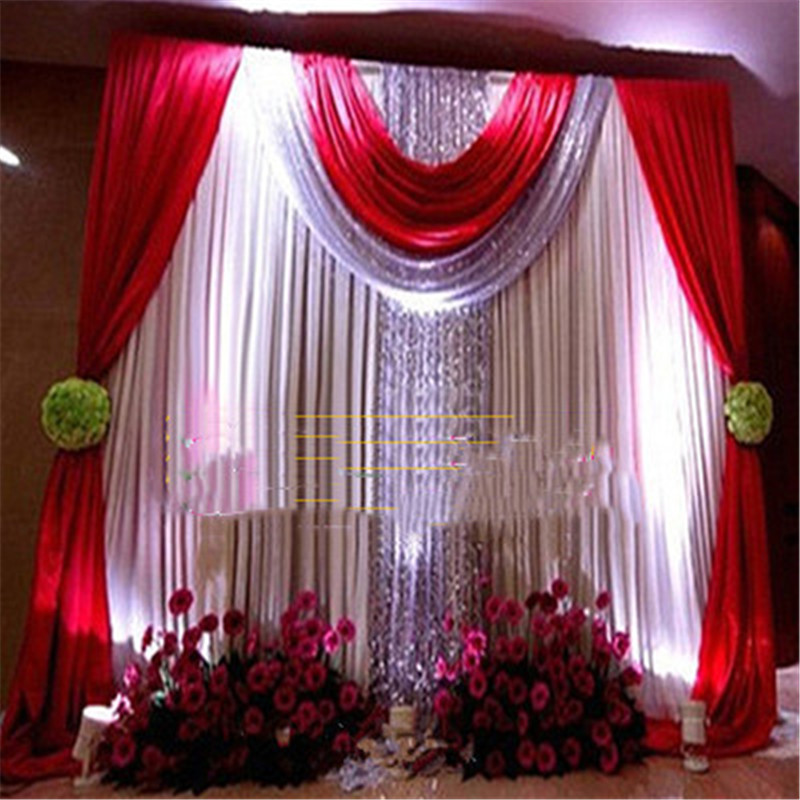 Wedding Background Frame Props Event & Party Decoration  Metal Steel Pipe Backdrop Stand Arch Telescopic Pole Yarn Truss