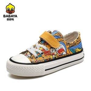 Image 1 - Babaya Kinder Leinwand Schuhe Jungen Sneaker Atmungsaktive 2020 Frühjahr Neue Cartoon Graffiti Mädchen Schuhe Mode Kinder Turnschuhe für Mädchen