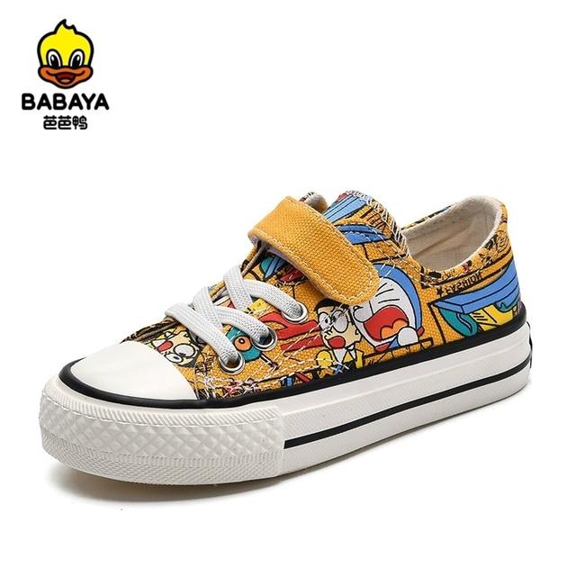 Babaya Kinder Leinwand Schuhe Jungen Sneaker Atmungsaktive 2020 Frühjahr Neue Cartoon Graffiti Mädchen Schuhe Mode Kinder Turnschuhe für Mädchen