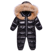 Boy Outerwear Overalls Snowsuit Waterproof Romper Born Toddler Girl Winter Baby Children
