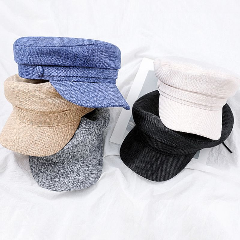 New Fashion Women Hats Casual Berets HatFlat Military Baseball Caps Octagonal Hats For Women Solid Caps W2