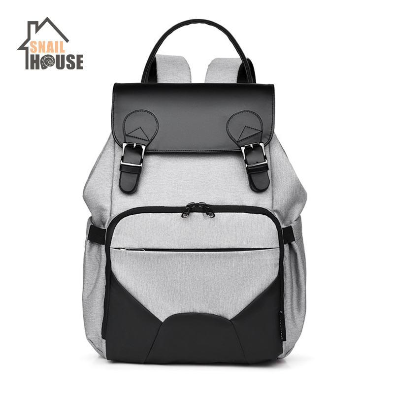 Snailhouse Multi-function Mummy Bag Large Capacity Mother Baby Backpack Nappy Bags Baby Supplies Milk Bottle Baby Mom Diaper Bag
