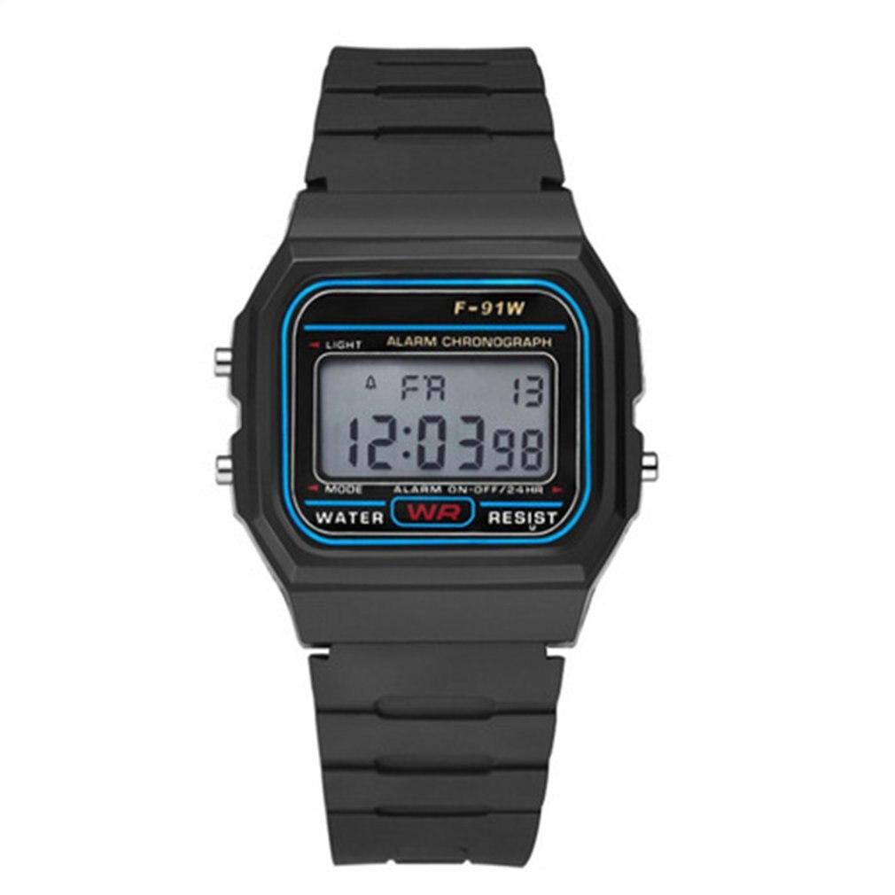 Multifunctional Men's Waterproof Digital Sports Watch with LED Light Smart Wristwatch Casual Luminous Watche with Pedometer