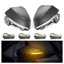 2pcs For Volkswagen VW Polo MK5 6R 6C 2009  2017 Dynamic Turn Signal LED Side Rearview Mirror Indicator Blinker Repeater Light