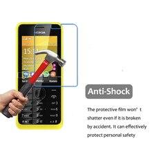 3 adet Nokia HD temizle patlamaya dayanıklı PET Film Nokia 301 ekran koruyucu için 5H çizilmeye dayanıklı anti su filmi cam değil