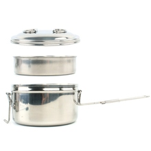 Outdoor Camping Cookware Set Stainless Steel Foldable Lunch Pot Combination For Picnic BBQ