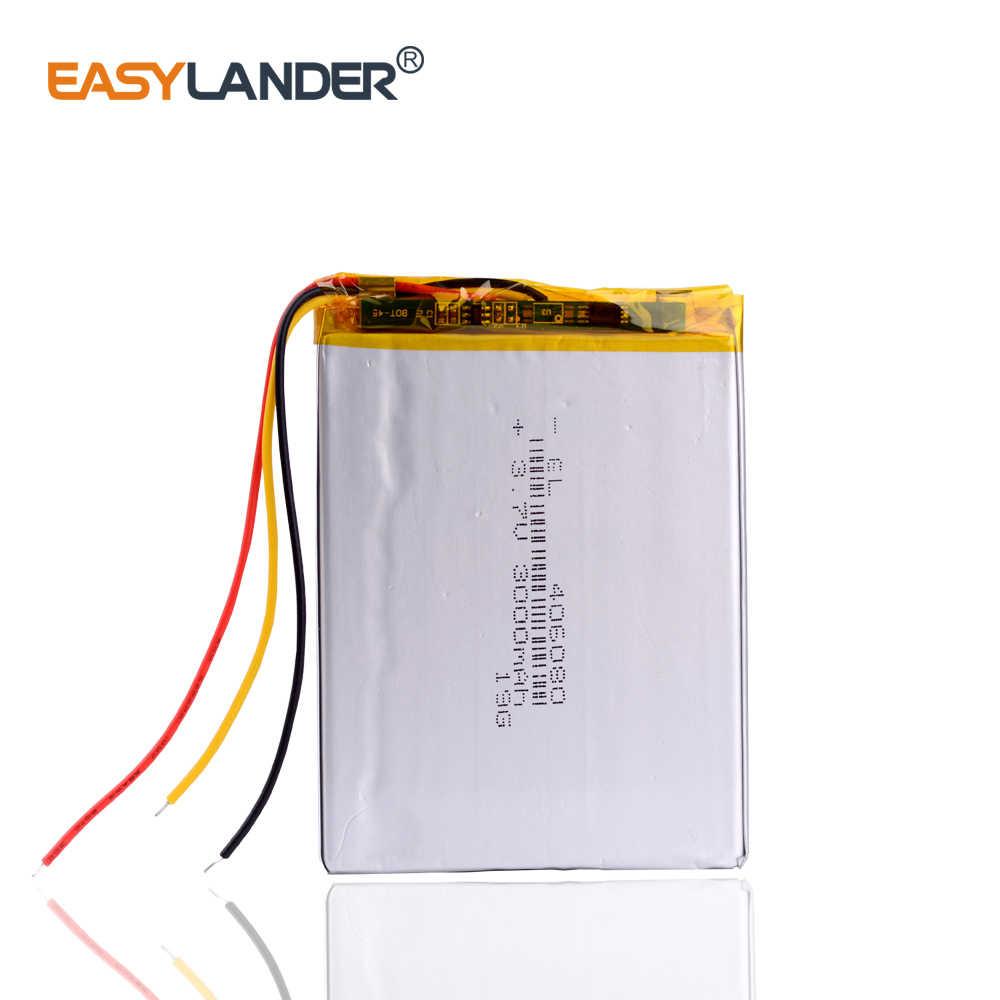 Remplacement 3 ligne 406080 3.7V 3000MAH Lithium polymère batterie pour onyx livre darwin 3 lecteurs livres e-book