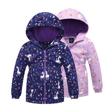 Children Outerwear Warm Polar Fleece Coat Hooded Kids Clothes Waterproof Windproof Baby Girls Jackets For Autumn Spring 3-12Y(China)