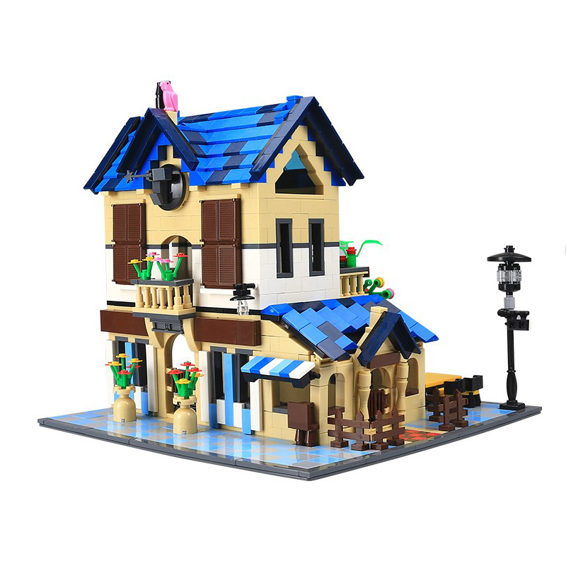 Wange 5311 1298PCS Architecture Series The Rural Villa Building Blocks Set Classic MOC House Toys For Children Gifts