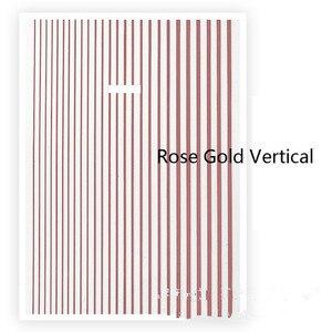 Image 4 - 1 stück Rose Gold Silber 3D Nagel Aufkleber Kurve Streifen Linien Nägel Aufkleber Klebe Striping Band Nail art Aufkleber Decals