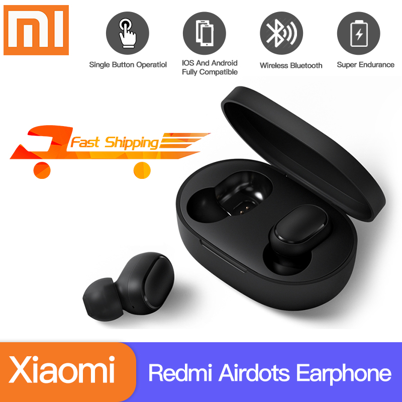 Xiaomi Redmi Airdots Xiaomi Wireless Earphone Voice Control Bluetooth 5.0 Noise Reduction Tap Control