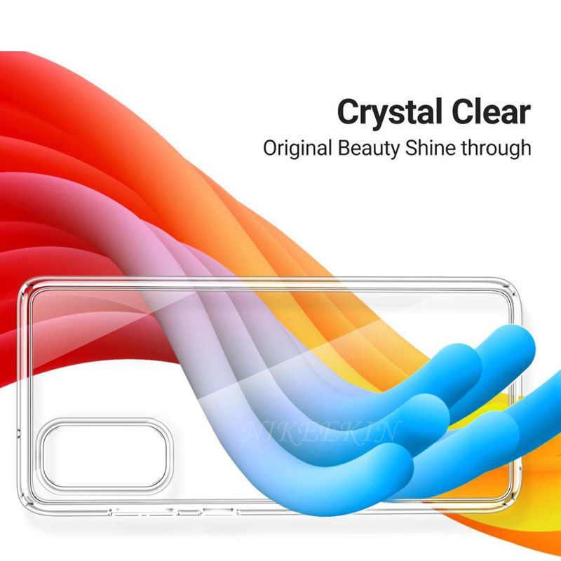 Clear Soft TPUซิลิโคนสำหรับSamsung A01 A31 A11 A21S A41 A50s A70s A10s A20e A30s A80 A90 a40 A60 A51 A71 5Gฝาครอบ