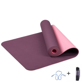 ITSTYLE 6MM TPE Yoga Mat Anti Slip Sports Fitness Exercise Pilates Gym Colchonete For Beginners With Yoga Bag 183*61*0.6cm