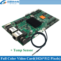 HD C35C With Temp Sensor, Support Receiving card, 1024*512pixels 10*HUB75 Asynchronous Full Color LED Display Video Control Card