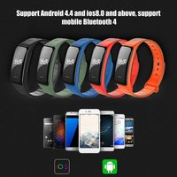 LEMFO C1 Pedometer Heart Rate Monitor Call Reminder Sport Smart Band Bracelet for iOS for Android