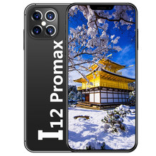I12 Pro Max Global Unlocked Telefoons Smartphone 6.7 Inch 10G + 512Gb Cellphone Dual Sim Mobiele Mobiele Smart gezicht Id Mobilephone 3G 4G