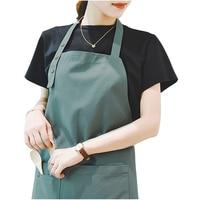 GUIBOBO キッチンエプロン防水抗ダート緑調節可能なバックルネック NO0197271144|エプロン|   -