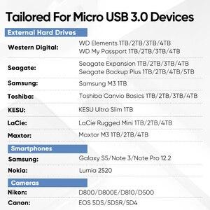 Image 3 - Ugreen USB C Sang Micro B 3.0 Cáp 5Gbps 3A Dữ Liệu Nhanh Chóng Đồng Bộ Dây Cho Macbook Cứng Đĩa Ổ Cứng HDD SSD Ốp Lưng USB Loại C Micro Cáp B