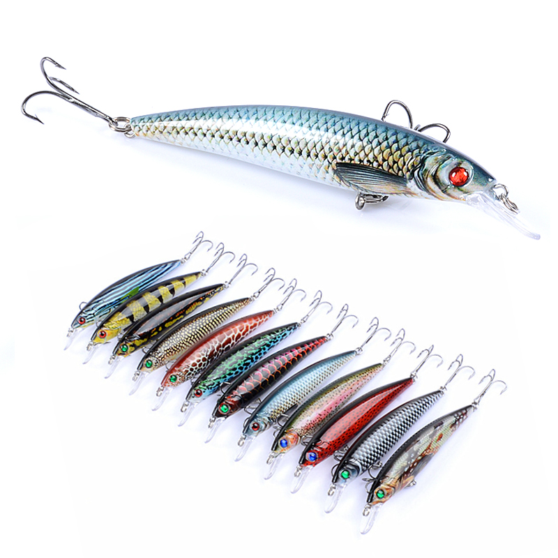 Fishing Lures Minnow Cranks Artificial Hard Baits Wobblers Swimbaits 11 Cm 11 G.