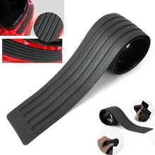 90cm Car Styling Trunk Rear Bumper Scratch Bar Universal Black Sill Protective Strip Decor
