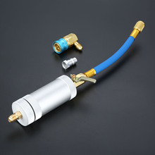 1/4SAE 2OZ Oil Injector R134A R12 R22 Car Coolant Filler Tube HVAC Tool Dye oz Injection Auto Tools