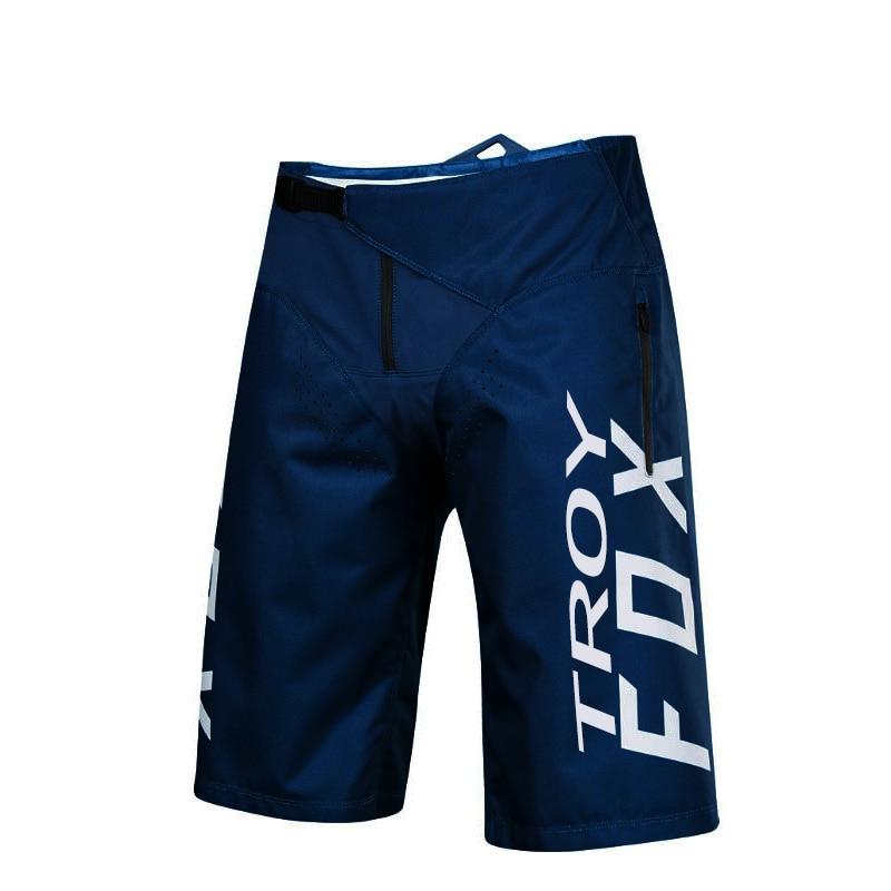 Blue Motocross Racing Moto Shorts MTB DH Downhill Cycling Short Pants Outdoor Sports Men Mountain Bike Bicycle Shorts