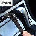 Автомобильный Стайлинг  карбоновая рукоятка переключения передач  наклейка  Накладка для BMW 5 серии E60 X3 E83 6 серии E63 X5 E53  аксессуары