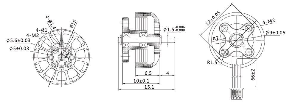 Gemfan 0806 6200KV Brushless Mini Motor for  FPV Quadcopter Drone