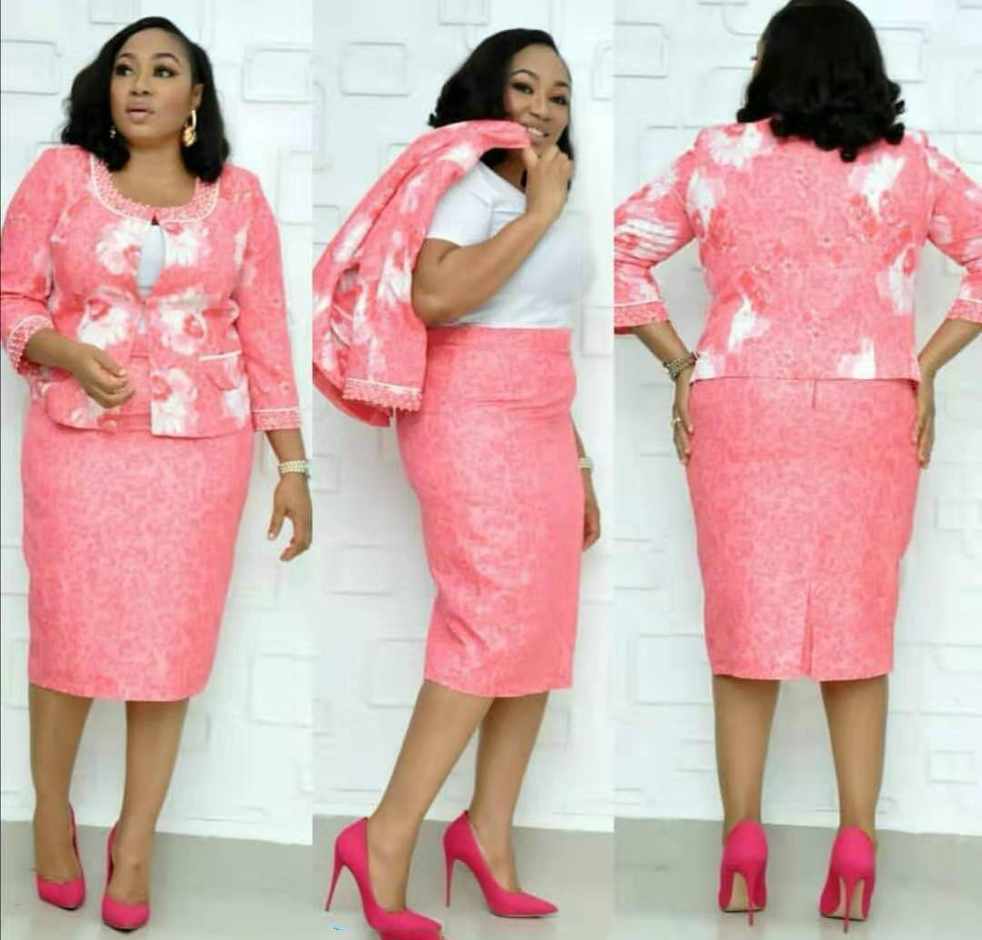 2019 New Elegent Fashion Style African Women African Printing Plus Size Dress Suit L-4XL