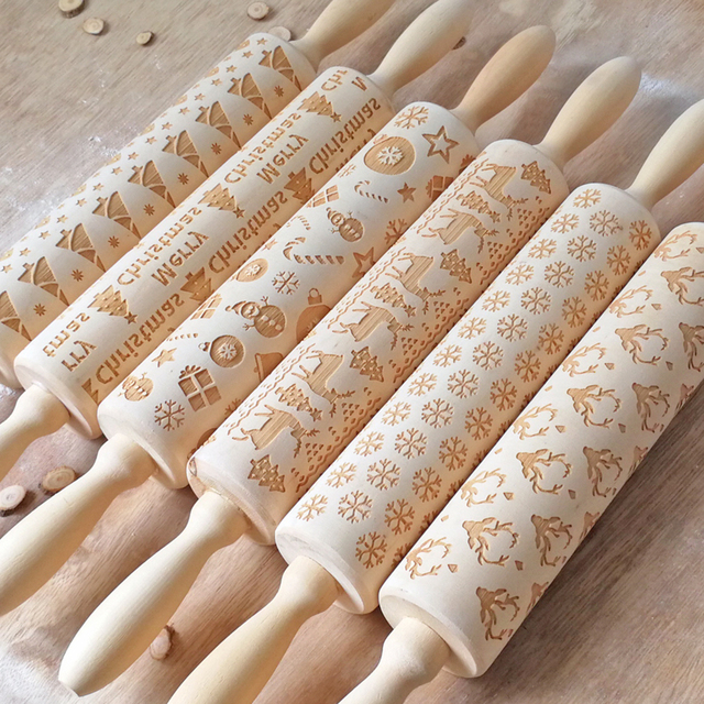 Baking Roller Cookies Fondant Cake Dough Engraving