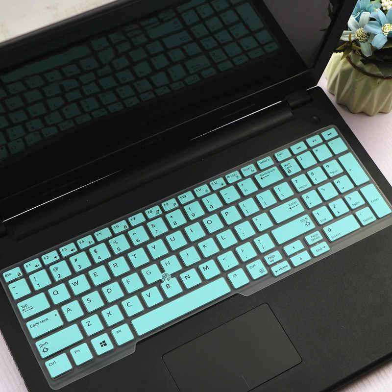 15.6 بوصة سيليكون الكمبيوتر المحمول لوحة المفاتيح غطاء الجلد لديل خط العرض 5591 5580 E5550 M7510 E5570 M7720 M7520 M5520 M7710 E5580