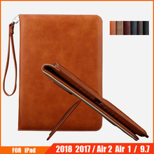 Case For iPad 2018 2017 9.7 Inch Case Flip Auto Sleep/Wake Up Stand Case Wallet Card Holder Leather Cover Case For iPad Air 2 Ai