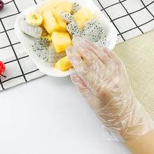 Disposable Gloves Food-Grade 100pcs Kitchen PE BBQ Pe-Material Restaurant Children