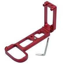 3c liberação rápida quente l placa/suporte base aperto de mão para nikon z z6 z7 arca swiss rrs compatível placa vertical vermelho
