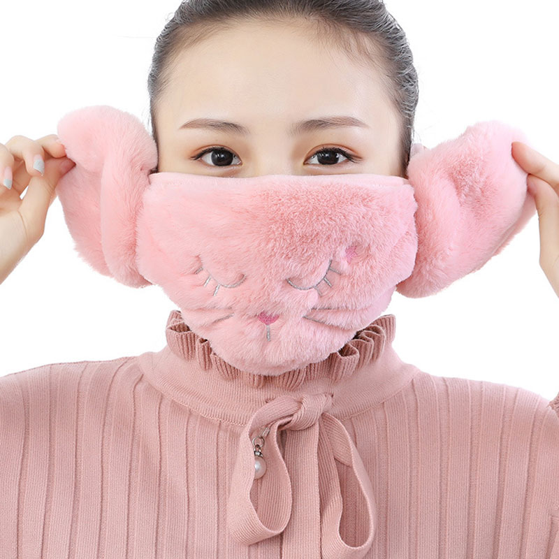 Unisex Earmuffs Protection Faux Rabbit Fur Autumn Winter Outdoor Cycling Thick Masks For Women Men Windproof Ear Warmer Earmuffs