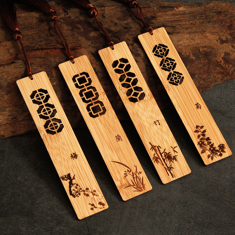 Bookmark Customizable Logo Museum Travel Souvenirs Bamboo Antique Style Creative Chinese-style Graduation Gift Creative Product