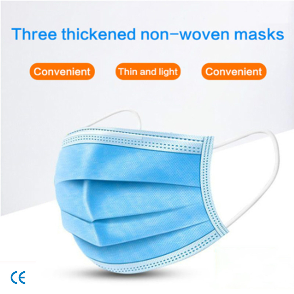 Disposable Masks 10/200 Pcs Mouth Mask 3-Ply Anti-pollution Dust FFP3 KF94 N95 Nonwoven Elastic Earloop Salon Mouth Face Masks