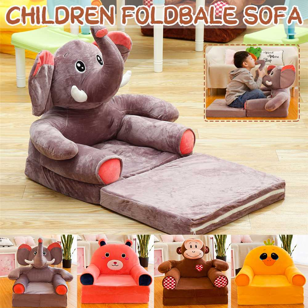 Cute Cartoon Animal Stuffed Plush Children's Sofa Tatami Chairs Baby Child Toy Sofa Cushion Birthday Gift For Kids