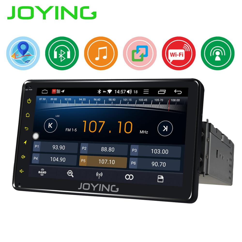 JOYING single 1 din 7 zoll universal Auto radio GPS Navigation Android 8.1 Radio HD kopf einheit Bildschirm unterstützung SWC/ spiegel link/BT image